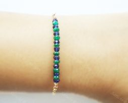 Sapphire Emerald 14K GF Bracelet