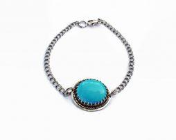 Turquoise Boho Unisex Silver Bracelet