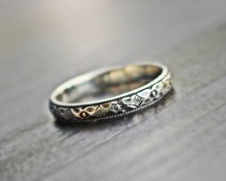 Silver Floral band