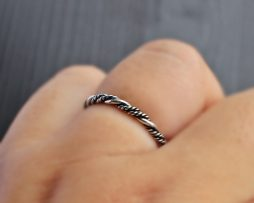 Double Twist Silver Band