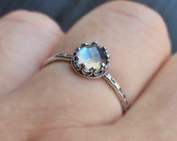 Labradorite Adjustable Silver Ring