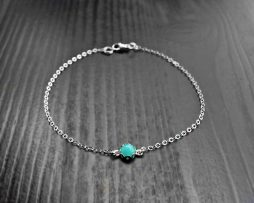 Tiny Amazonite Silver Bracelet
