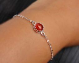 Amber Sterling Silver Bezel Bracelet