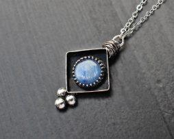 Kyanite Rustic Silver Necklace