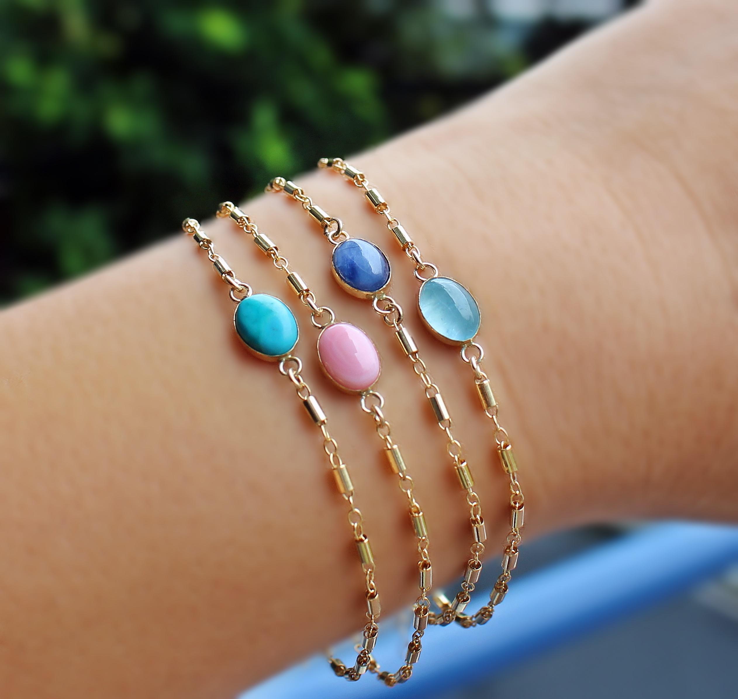 Kyanite Gold Filled Bracelet