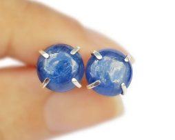 Kyanite Silver Prong Earrings