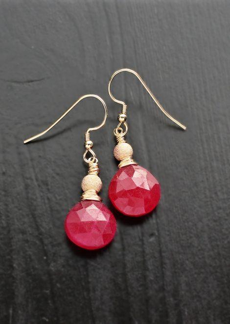 Ruby 14K Gold Filled Earrings