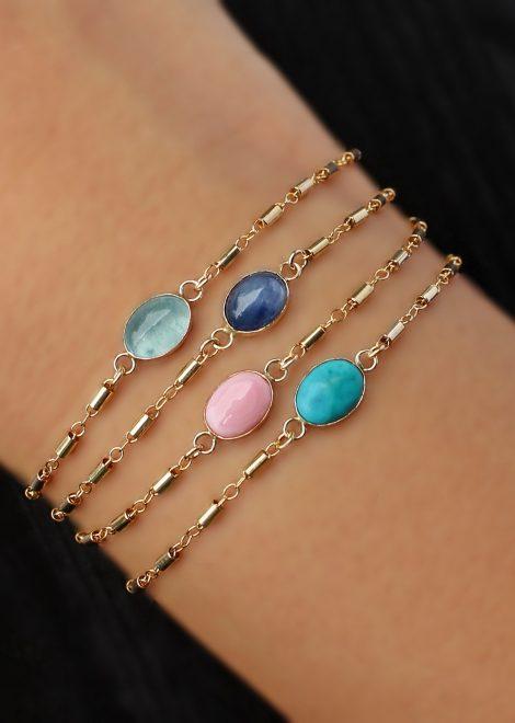 Turquoise 14K gold filled bracelet