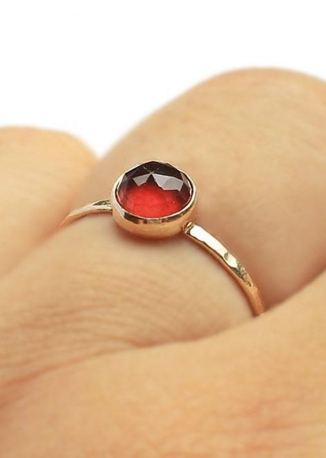 Hessonite Garnet 14 K Gold Ring