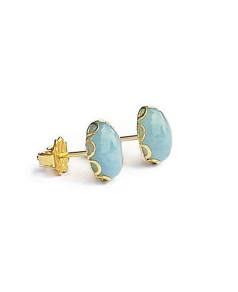 Aquamarine Gold Earrings