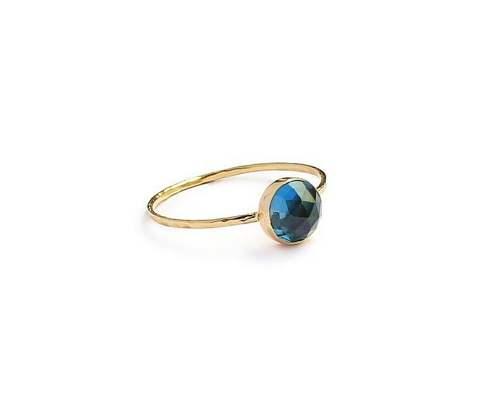 London Blue Topaz 14 K Gold Ring