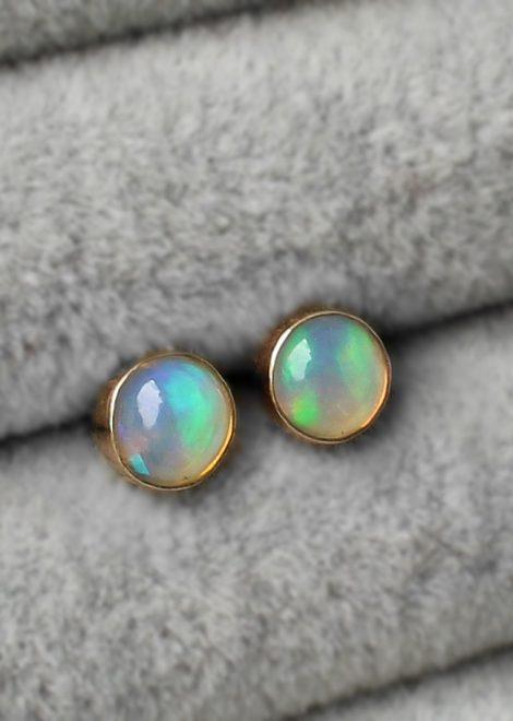 Opal 14 K Gold Earrings