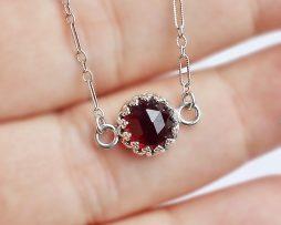 Rhodolite Garnet Pendant Necklace
