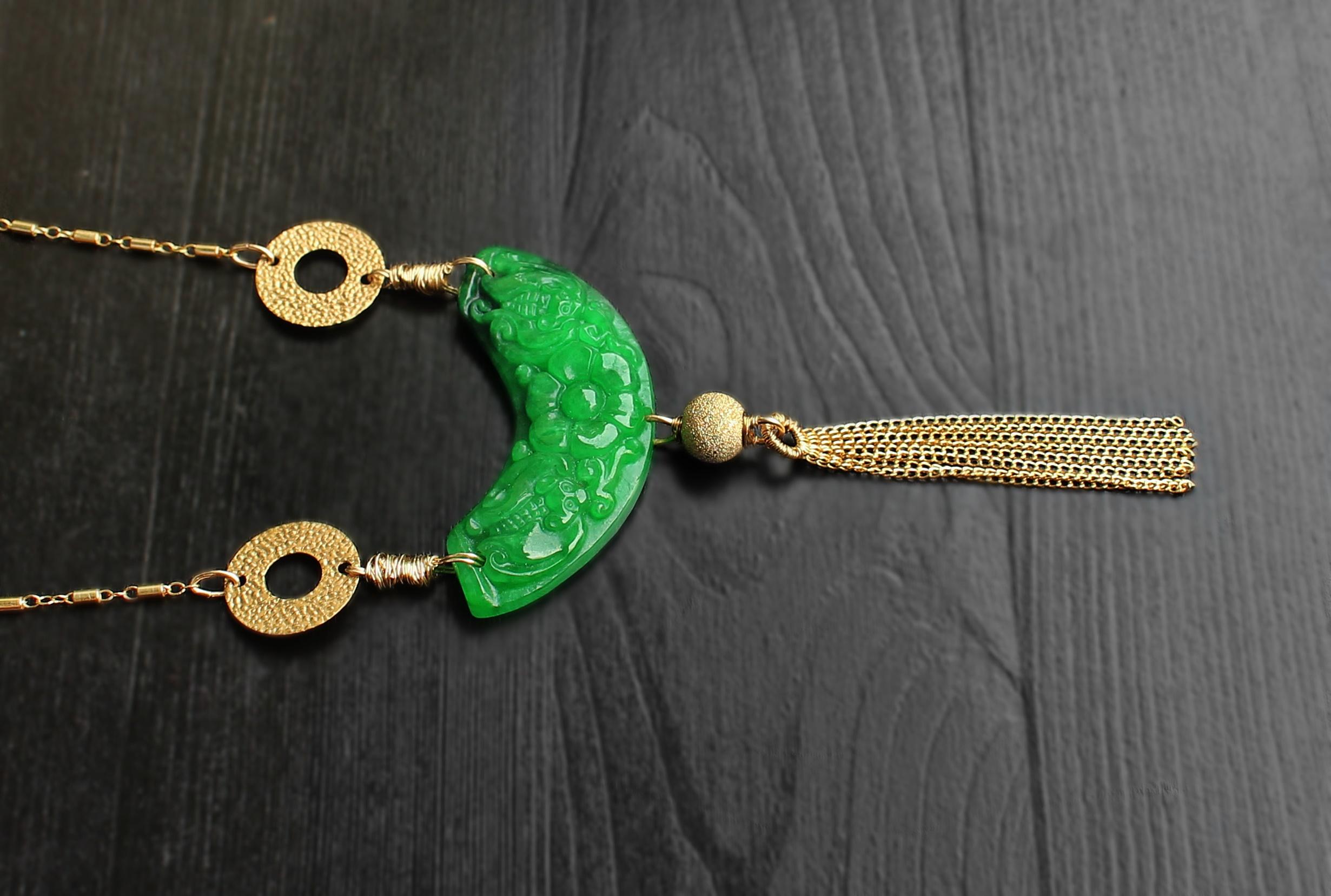 Jade Arch 14K Gold Filled Necklace